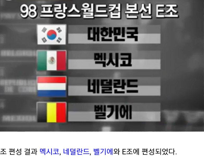 98 프랑스 월드컵 조 편성 후 근자감