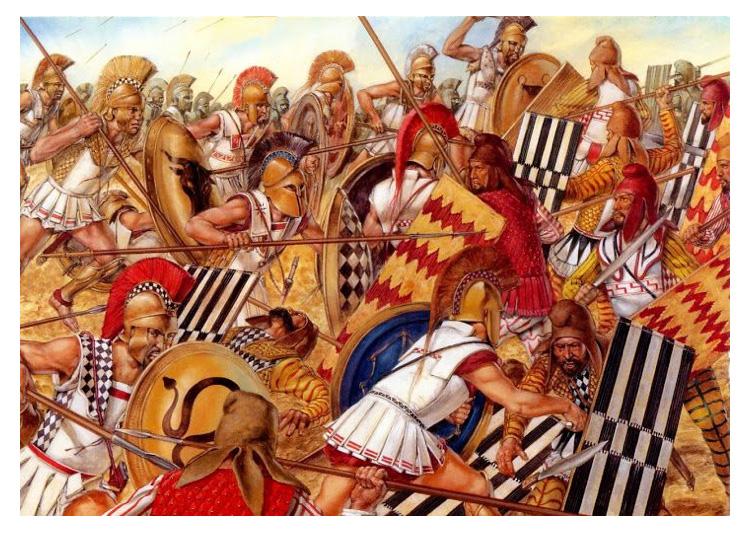 고대 그리스 청동 투구
